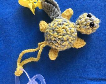 Turtle pacifier amigurumi baby wool