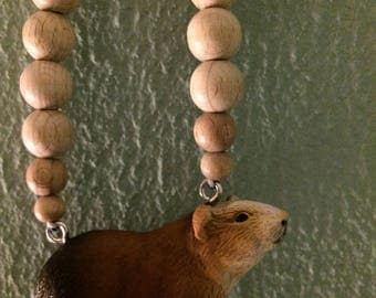 Cute cool Guinea pig necklace