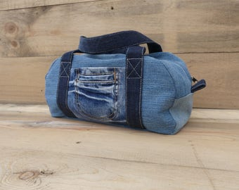 Handbag made of denim, jeans pocket, denim bag