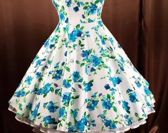 Rockabilly 50s prom swing dress dance dress