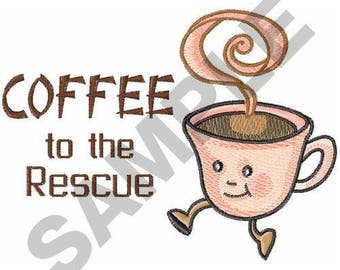 Coffee Cup - Machine Embroidery Design