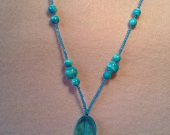 Beaded Pendant Necklace - 10% of Proceeds for Charity