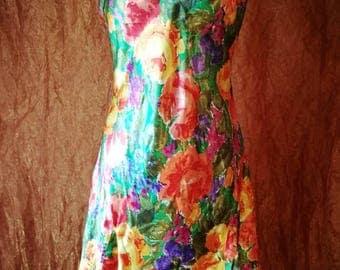 90s Victoria's Secret Floral Slip Dress M