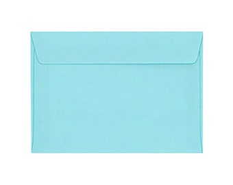 Set of 25 Solid Blue Envelopes Size 4 1/2 x 6 3/8 inches. (11.4 x 16.2 cm.)