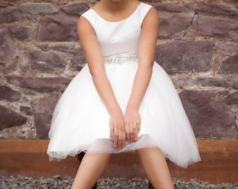 "Flower Girl Dress ""Diamante Dream"""