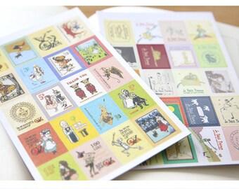 Deco Sticker | Stamp Sticker Set - Paris | Vintage | Travel