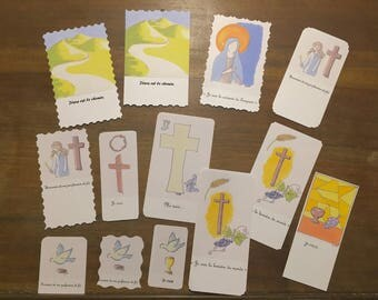 Lot of 5 images of profession of faith