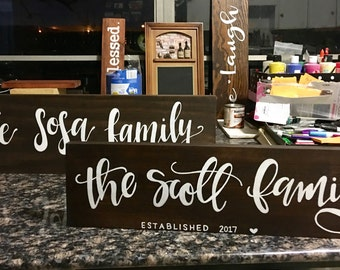 Personalized family name sign | Established sign | Family name