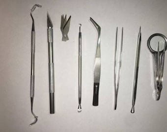 Vinyl Weeding Pick Tools 8 pc Stainless Steel Professional Sign / Signmaking