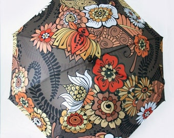 The Janis - Paisley 70s Style Boho Umbrella
