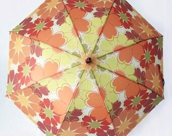 The Dawn- Retro Floral Umbrella - Flower Power