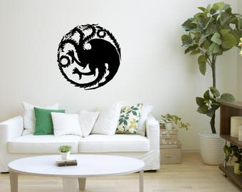 Game of Thrones, House Targaryen, Wall Art Decal, Sticker Mural, Wall Decoration, Wall Picture, Home Decoration, Illustration,Big Sticker 20