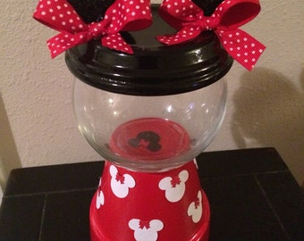 Minnie Mouse Gumball Machine. Minnie Mouse centerpiece. Minnie Mouse Favor. Mickey Mouse gumball Machine. Mickey Mouse Centerpiece