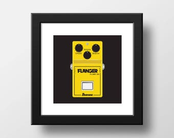 Effects Pedal Flanger Downloadable Art Print Rock and Roll Art