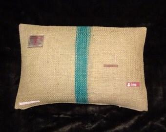 Pillowcase original coffee bag cushion 'PUR', 60 x 40 cm