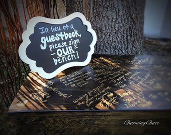 Guest book bench sign
