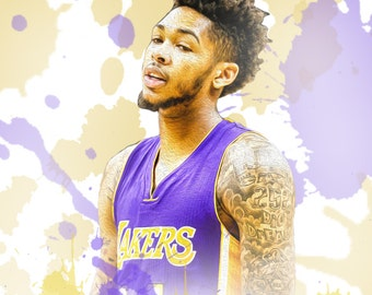 "Brandon Ingram Los Angeles Lakers 13"" W x 19"" H Poster"