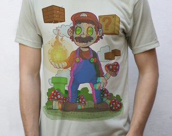 Trippy Mario T shirt