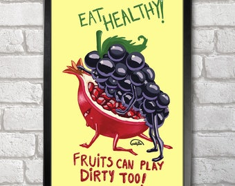Eat Healthy Poster Print A3+ 13 x 19 in - 33 x 48 cm  Buy 2 get 1 FREE