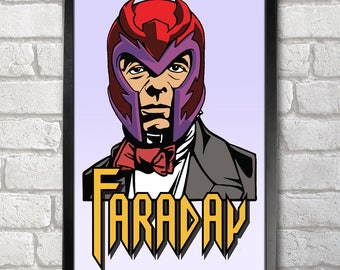 Faraday - Magneto Poster Print A3+ 13 x 19 in - 33 x 48 cm  Buy 2 get 1 FREE