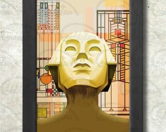 Frank Lloyd Wright Poster Print A3+ 13 x 19 in - 33 x 48 cm  Buy 2 get 1 FREE