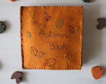 my autumn quiet book- felt book about autumn natural elements and activities