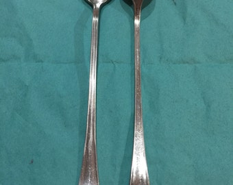 Vintage silver plate tea spoons from Union Co