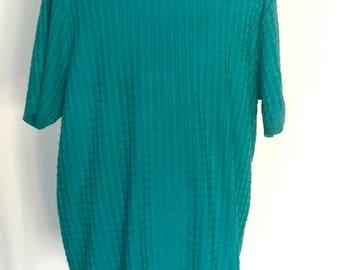 80's Boxy Knit Sweater w/ Square design