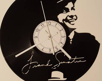 Vinyl Clock, chairman of the board, Christmas gift, Wall clock, vinyl record clock