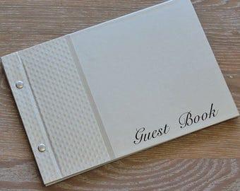"""Guest Book, """"Embossed Diamond"""", Weddings, Engagements, Birthdays, Anniversaries"""