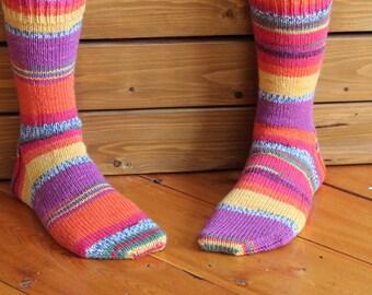 Handmade Knit Wool Socks