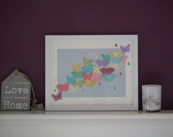 Framed Paper Butterfly display
