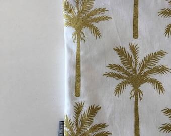 Golden Palms Large Clutch Bag - Ipad Case  - Ladies Clutch Bag - Ipad Pouch - Nappy Bag - Makeup bag