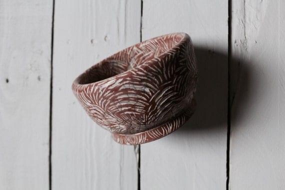 Etched Ceramic Bowl