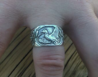 Sterling Silver Duck Ring