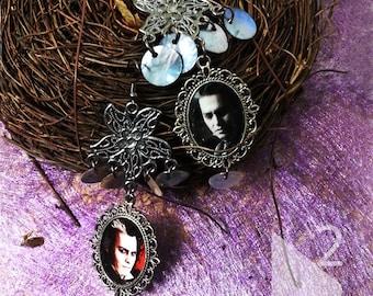 johnny depp Sweeney Todd  charm  earrings