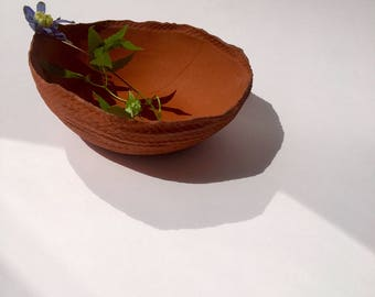 Handmade unglazed bowl