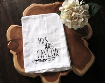 Mr And Mrs Towel Etsy