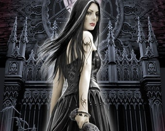 Gothic Lady Cross Stitch Chart