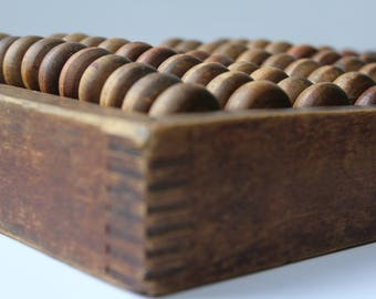 Rare Soviet Abacus, Abacus USSR, Vintage abacus, Soviet wooden abacus. Patina