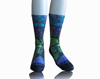 Handmade Sublimated Socks style Tempo Run