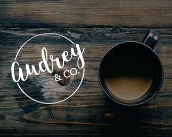 Typography Logo. Premade Logo. Blog Logo. Company Logo. Custom Logo. Minimalist Logo. Café Logo.