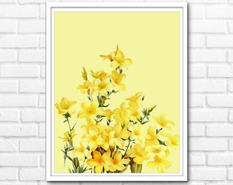 Yellow Flower Print, Wall Art Floral Printable Art, Wall Decor INSTANT DOWNLOAD - 1022
