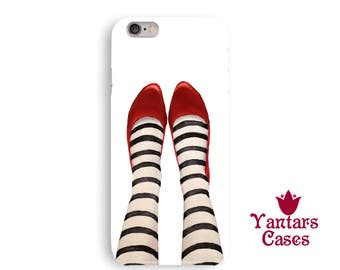 Wicked witch iphone 6 case funny iphone 5 case kids cool iphone 7 case ruby red slippers iphone case fun iphone SE case legs phone case fine