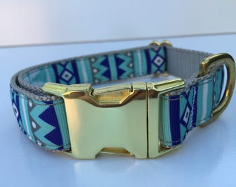 Aztec Gold Dog Collar