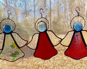 Stained glass Angels 3 each