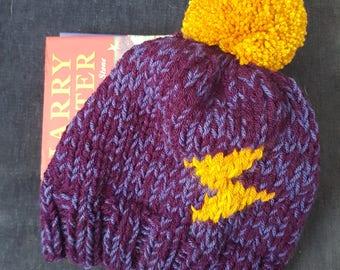 Harry Potter Lightning Bolt Knit Bobble Hat