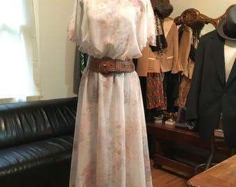 1970 fairy nymph hankerchief dress