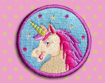 Unicorn patch - Iron on Patches - Embroidered Patch - Cute Patches - Patches for Jackets - Sew on patch - Patch Game - 90s Badge - For her