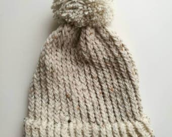 childs loom knit chunky hat